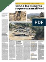 Nadie detiene a los mineros informales que ingresan al Perú