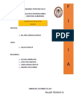 Informe Tecnico de Elaboracion de Galletas Saladas