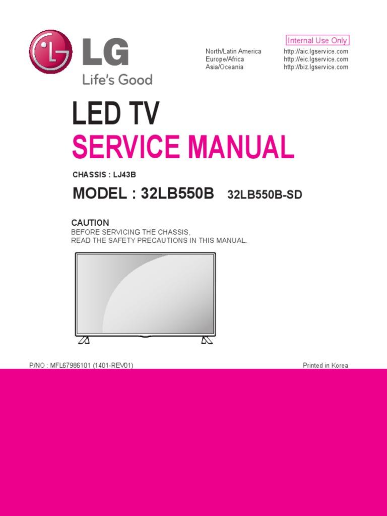 LG 32LB550B-SD Chassis LJ43B pdf   Soldering   Printed