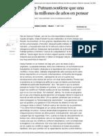 El Filósofo Hilary Putnam Sostiene Que Una Máquina Tardaría Millones de Años en Pensar _ Edición Impresa _ EL PAÍS