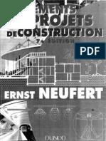 Neufert Ernst - Les TlTments Des Projets de Construction