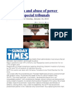 Corruption and Abuse of Power Probes by Special Tribunals