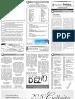 Boletim Informativo - 17/01/2010