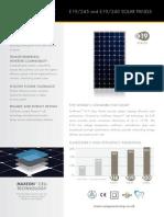 Sunpower 245w Data Sheet