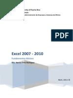 Manual Excel 2007 - 2010 - Formulas y Funciones Basicas