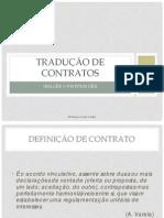 Traducao de Contratos em Inglês