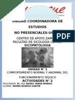 COMPORTAMIENTO NORMAL Y ANORMAL. FUNCIONAMIENTO SÍQUICO