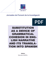 SUBSTITUTION AS A DEVICE OF GRAMMATICAL COHESION