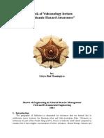 Paper of Volcanic Hazard