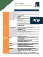 Enterprise Capital - Risk Categories