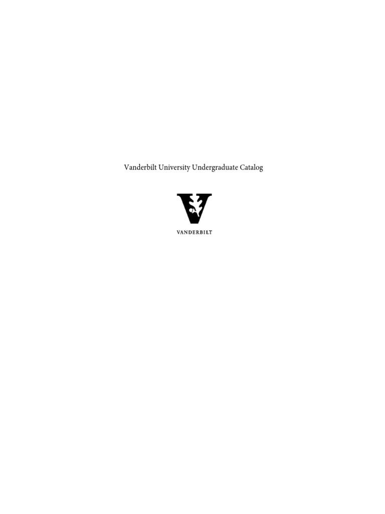 c37ef325a Vanderbilt Undergraduate Course Catalog