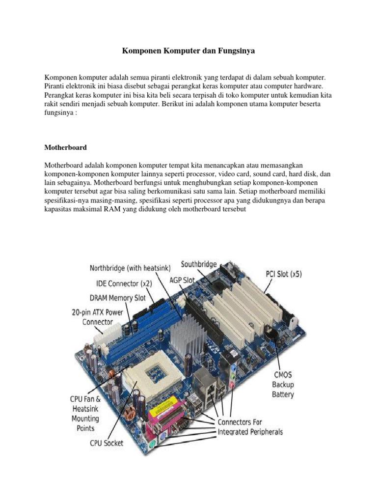 Komponen Komputer Dan Fungsinyapdf