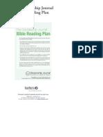 Discipleship Journal Bible Reading Plan