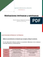 Motivaciones Intrínsecas y Extrínsecas