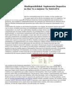 Glutamina De Alta Biodisponibilidad. Suplemento Deportivo A Base De Glutamina Que Va a mejorar Tu Nutrición Deportiva.