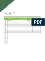 Vessel Attendance Sheet