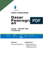 Modul Dasar Pemrograman [TM10]