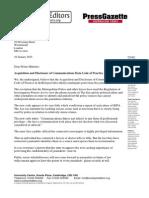RIPA letter to Prime Minister