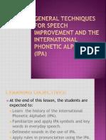 The International Phonetic Alphabet (Ipa) Simple