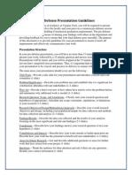 Pre Defense Guidelines