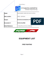 167.04.12 LP602 Fire Fighting Equipment List Rev0