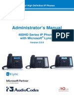 LTRT-09935 400HD Series IP Phone With Microsoft Lync Administrator's Manual Ver. 2.0.9