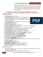 Ministers of India List 2014.pdf