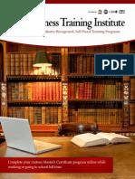 Business Training Institute Catalog