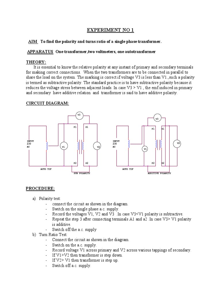 Lm Ece Emec Manual Transformer Inductor Circuit Diagram With Voltmeter