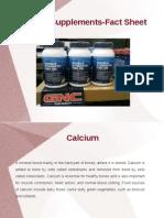Calcium Supplements Facts Sheet
