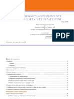 Market Demand Assessment for E Banking Services in Palestine