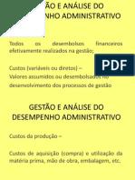 Gestão e Análise Do Desempenho Administrativo