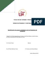 Identificación de grupos estratégicos de los Paradores de Andalucía