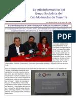 Boletín del Grupo Socialista del Cabildo de Tenerife 109. 12 - 18 de enero 2015
