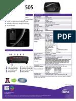 Projector Spec 7939 BENQ
