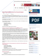 Bank of Baroda BOB Entrance Test Format & Analysis _ Careermitra
