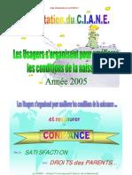 Présentation du CIANE à la Journée de travail sur le cahier des charges national des réseaux de santé en périnatalité (12 septembre 2005)