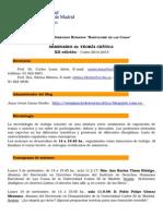 Programa Teoria Critica - Curso 2014-2105- Xii Edicion