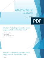 Health Priorities in Australia