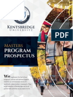 Kentsbridge University Masters Degree Prospectus