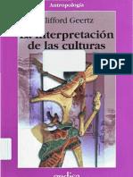 La interpretación de las culturas_Clifford Geertz