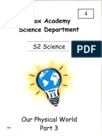 S2 Science - Our Physical World - Part 3