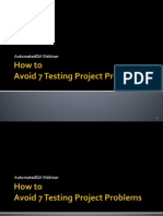 Avoid 7 Software Testing Project Problems