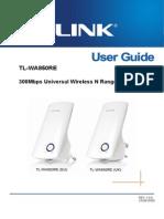 Tl-wa850re v1 User Guide