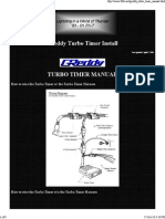 Greddy Turbo Timer Installation Manual