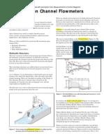 Open Channel Flow Meters