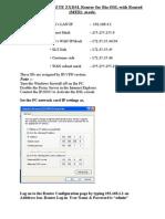 Guidelines for BizDSL Configuration in MER Mode for ZTE CPEs