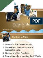 parent night presentation