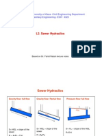 Lecture 2. Sewer Hydraulics
