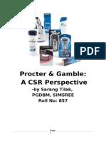 24495344 CSR Project on P G